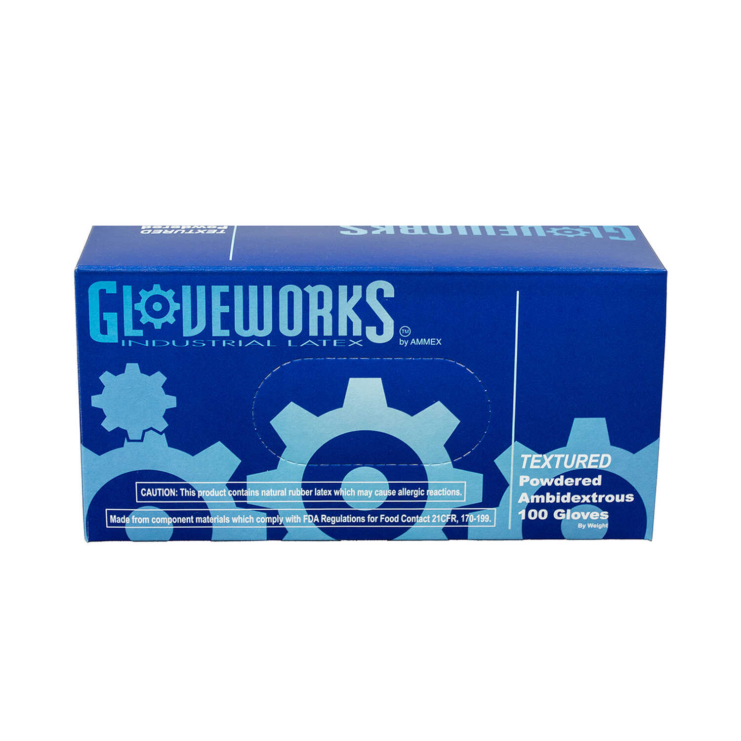 Gloveworks  Latex  Disposable Gloves  L  Ivory  100 pk