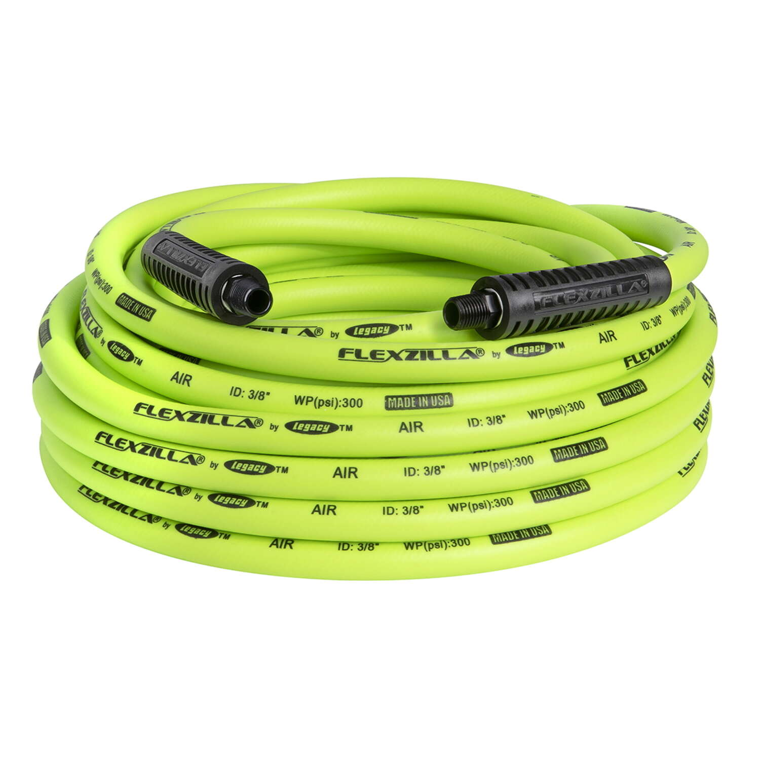 Flexzilla  50 ft. L x 3/8 in. Dia. Hybrid Polymer  Air Hose  300 psi Zilla Green