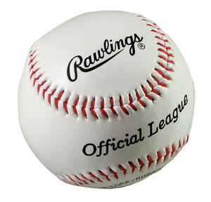 Rawlings  White  Rubber  Baseball  9 in.  1 pk