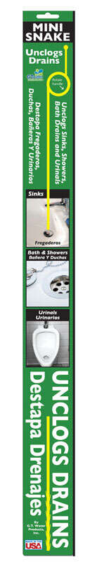 GT Water Products  Drain King  Drain Unclogger  26 in. L x 1/4 in. Dia.