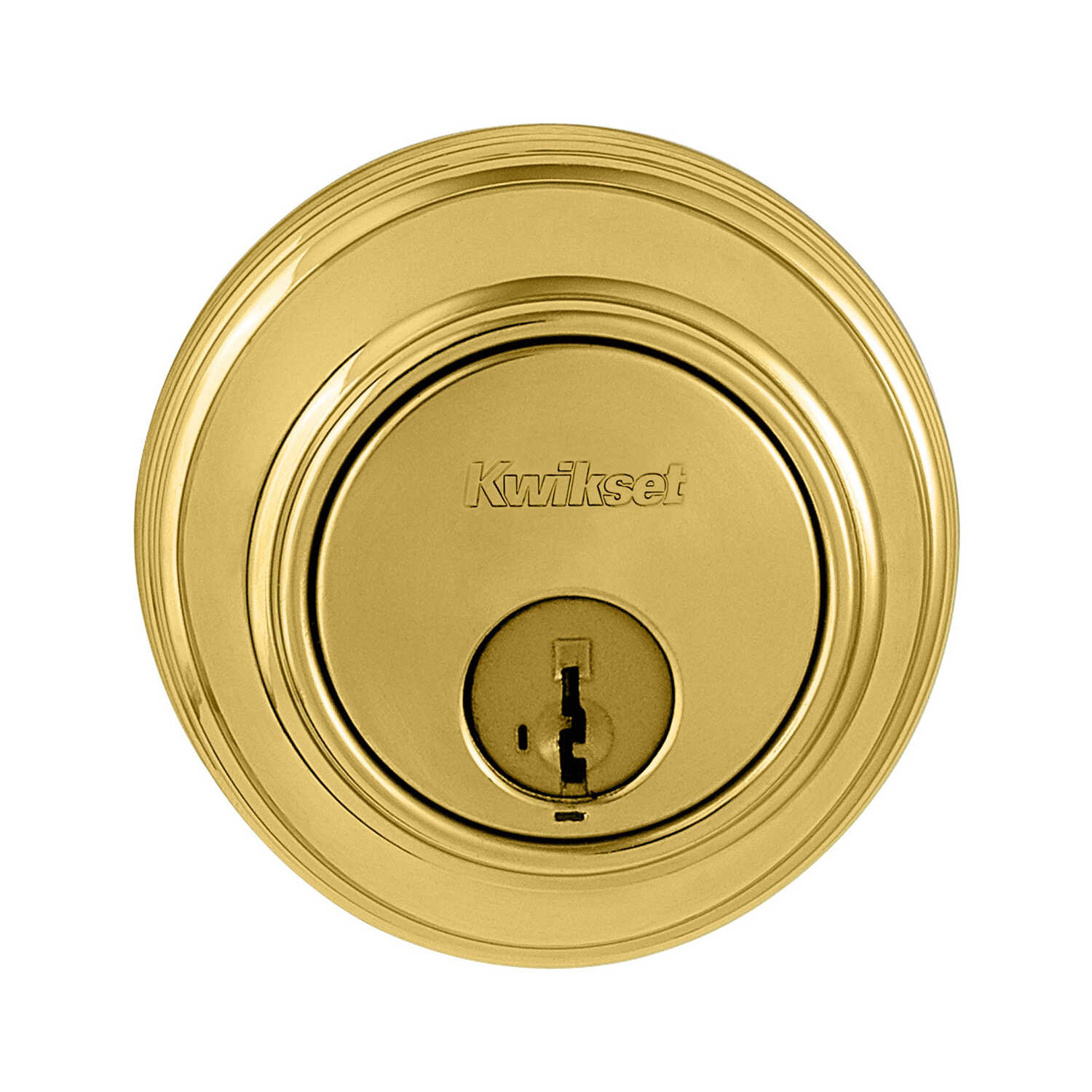 Kwikset  Bright Brass  Metal  Deadbolt