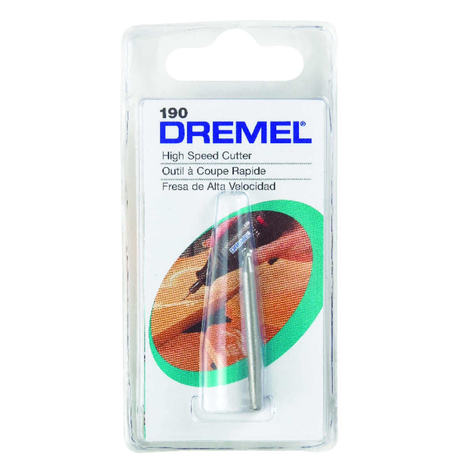 Dremel  3/32 in   x 1.5 in. L x 1/8 in. Dia. Steel  High Speed Cutter  1 pk