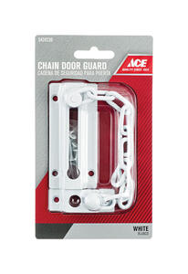 Ace  3.38 in. L White  Steel  Chain Door Guard