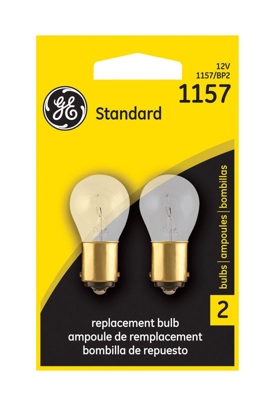 GE Miniature Lamps 1157BP For Turn Signal, Stop, Tail and Parking 12 volts 2 Carded