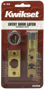 Kwikset  Bright Brass  Gold  Steel  Entry Latch  1 pk