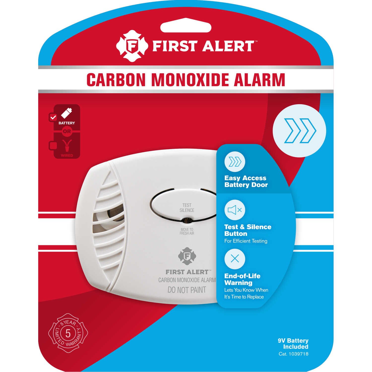 BRK  Battery-Powered  Electrochemical  Carbon Monoxide Detector  12 pk