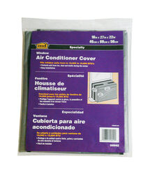 M-D Building Products  18 in. H x 27 in. W Polyethylene  Gray  Square  Window Air Conditioner Cover