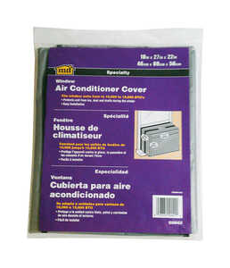 M-D Building Products  27 in. W x 18 in. H Gray  Window Air Conditioner Cover  Polyethylene  Square
