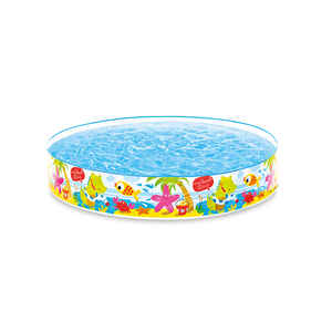 Intex  117 gal. Round  Plastic  Snapset Pool  10 in. H x 5 ft. Dia.