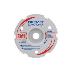 Dremel  3 in. Dia. Carbide  Flush Cut Wheel  Saw-Max  1 pc.