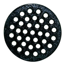 Sioux Chief 6-1/2 in. Epoxy Coated Black Round Cast Iron Floor Drain Strainer