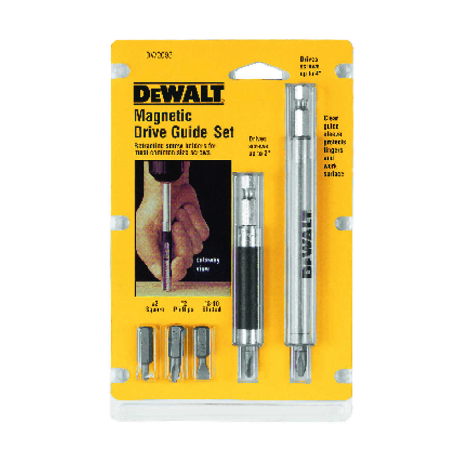 DeWalt  2 in. L 7 pc. Drive Guide Set  Heat-Treated Steel