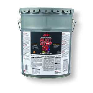 Ace  Rust Stop  Interior/Exterior  Gloss  White  Indoor and Outdoor  Rust Prevention Paint  5 gal.