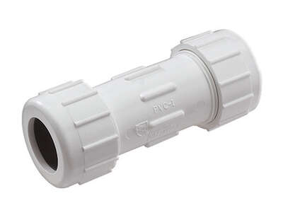 NDS  Schedule 40  2-1/2 in. Compression   Compression  PVC  Coupling