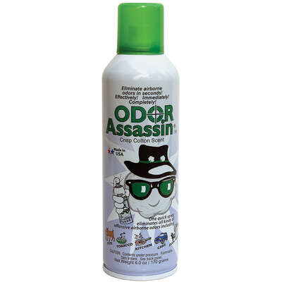 Odor Assassin  Convenient Sprays  Cotton Scent Odor Control Spray  6 oz. Liquid
