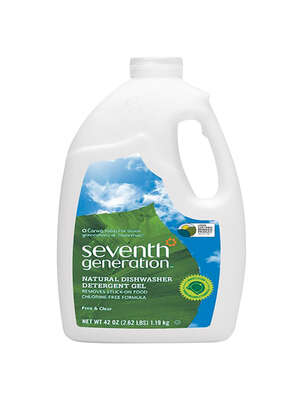 Seventh Generation Free & Clear Scent Gel Dishwasher Detergent 42 oz.