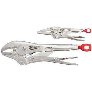 Milwaukee  Torque Lock  2 pc. Forged Alloy Steel  Pliers Set  10 and 6 in. L Silver