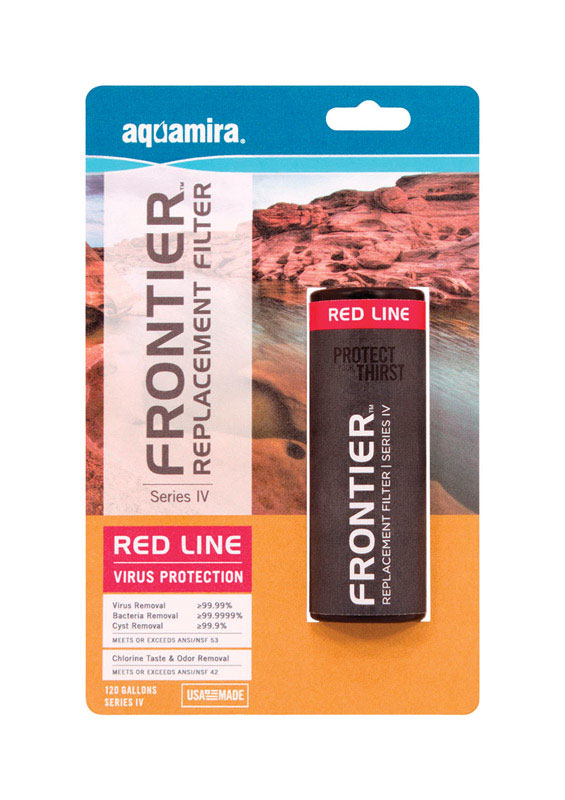 Frontier  Aquamira Series IV Red Line  Replacement Water Filter  120 gal. For Hydration System