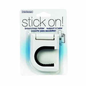 InterDesign  Stick On  3-1/2 in. H x 2-1/2 in. W Broom/Mop Holder