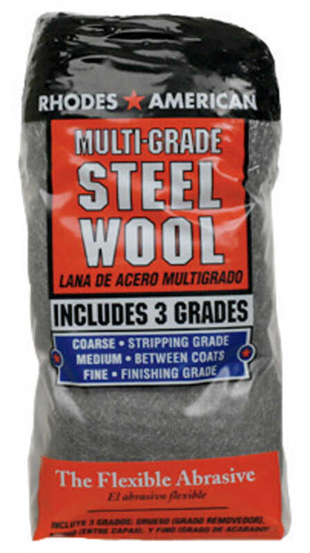 Rhodes American  0000 Grade Medium  Steel Wool Pad  12