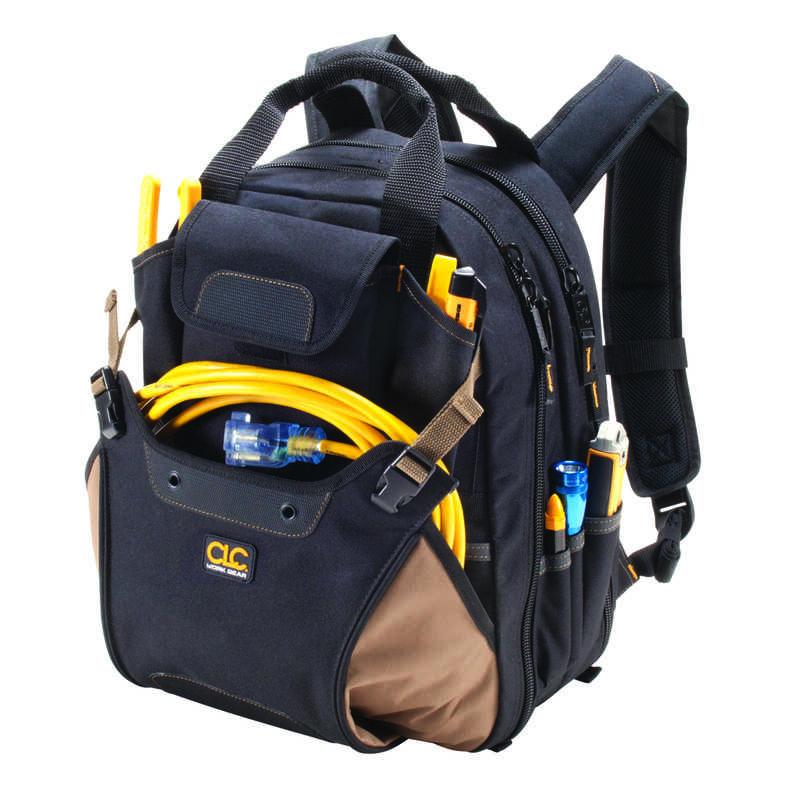 H Polyester Backpack Tool Bag 44 Pocket Black Tan 1 Pc Ace Hardware