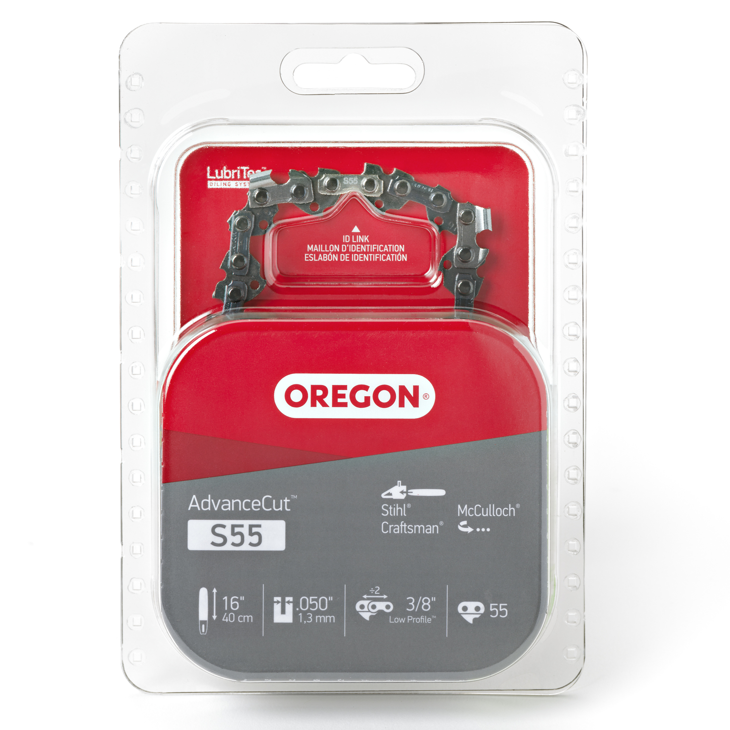 Oregon  16 in. L 55 links Chainsaw Chain