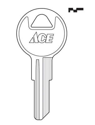 Ace  House/Office  Key Blank  Single sided For Chicago/Hudson Locks
