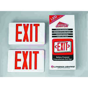 Lithonia Lighting  Indoor  LED  Lighted Exit Sign  Thermoplastic