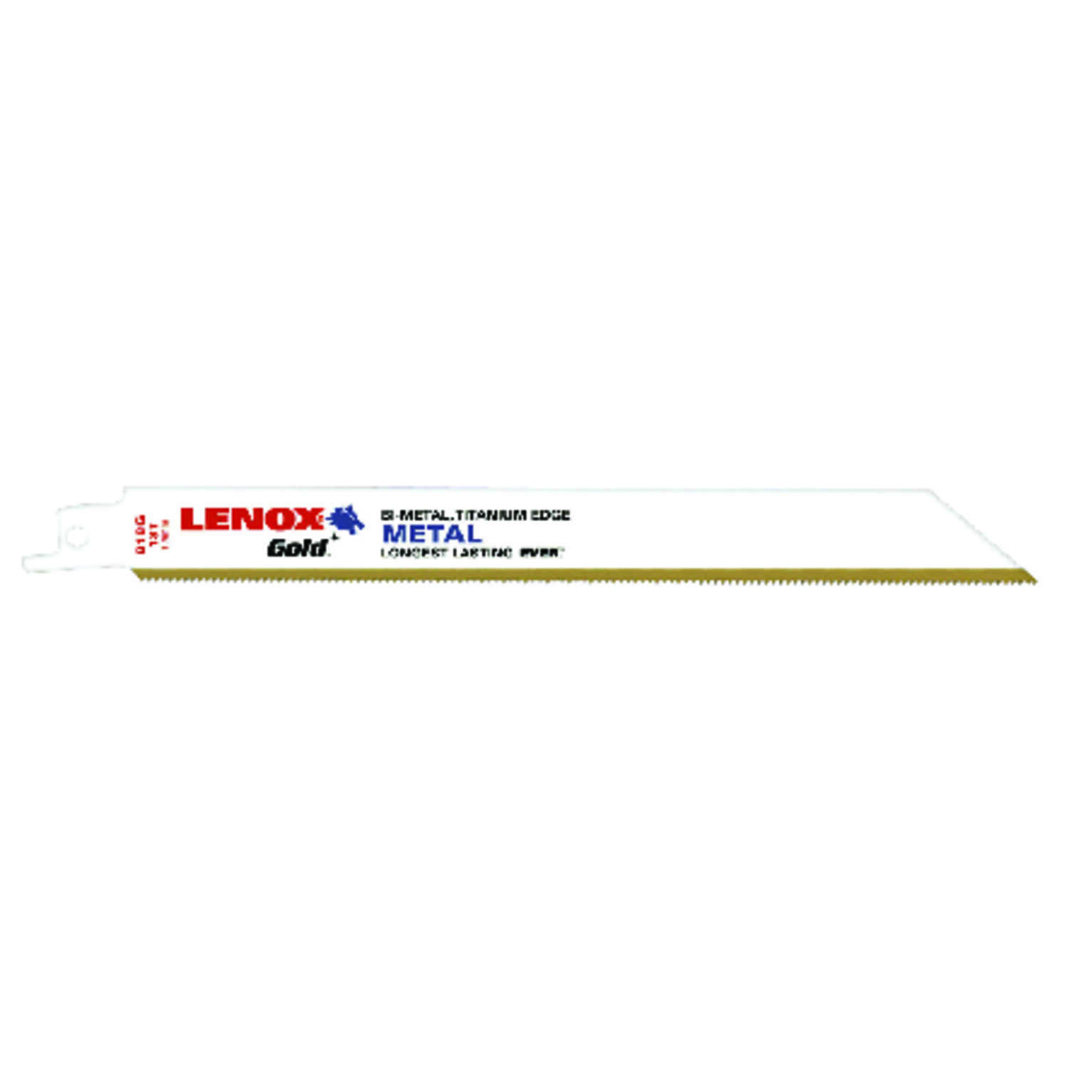 Lenox  Gold  8 in. L x 3/4 in. W Bi-Metal  Reciprocating Saw Blade  18 TPI 5 pk