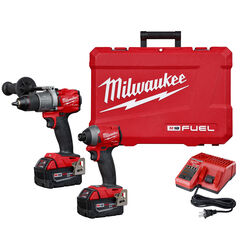 Milwaukee M18 FUEL 18 volt Cordless Brushless 2 tool Hammer Drill and Impact Driver Kit