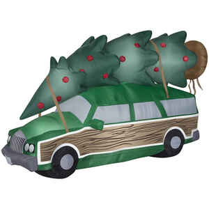 Gemmy  Airblown  National Lampoon Christmas Vacation Station Wagon  Christmas Inflatable  Green  1 p