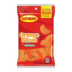 Sathers Chuckles Orange Slices Gummi Candy 5 oz.