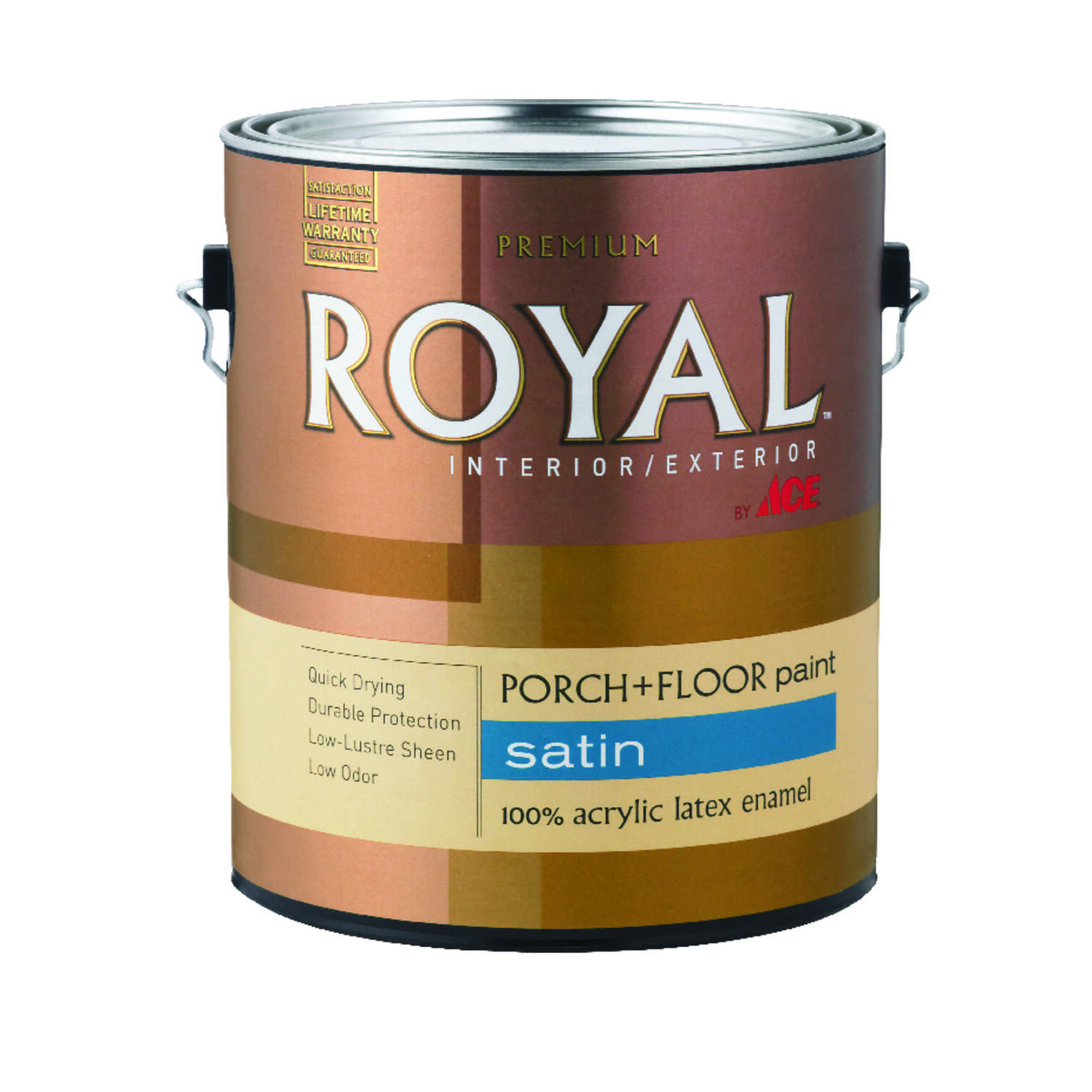 Ace  Royal  Satin  Neutral Base  Acrylic Latex  Porch & Patio Floor Paint  1 gal.