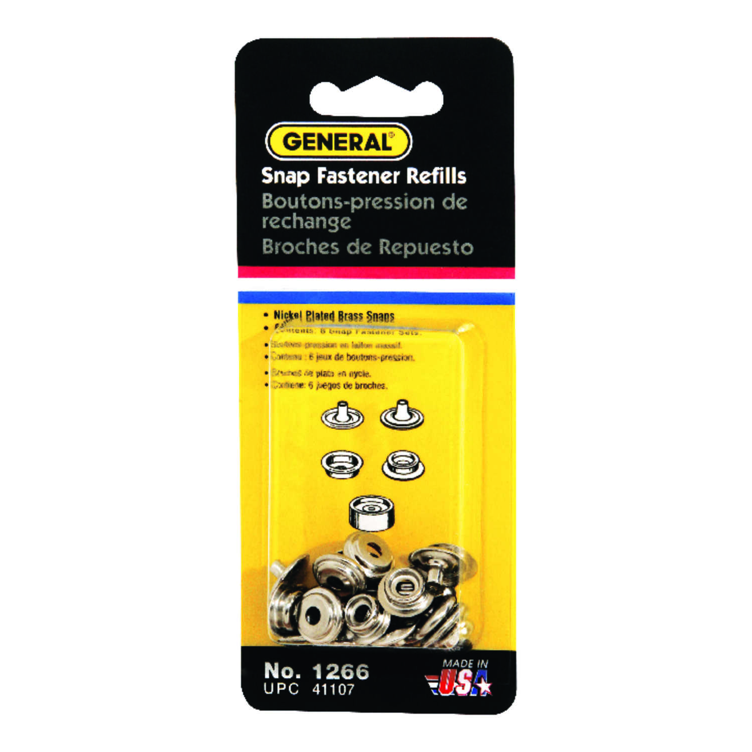 General Tools  - in. Dia. x - in. Dia. Brass  Grommet  6 count