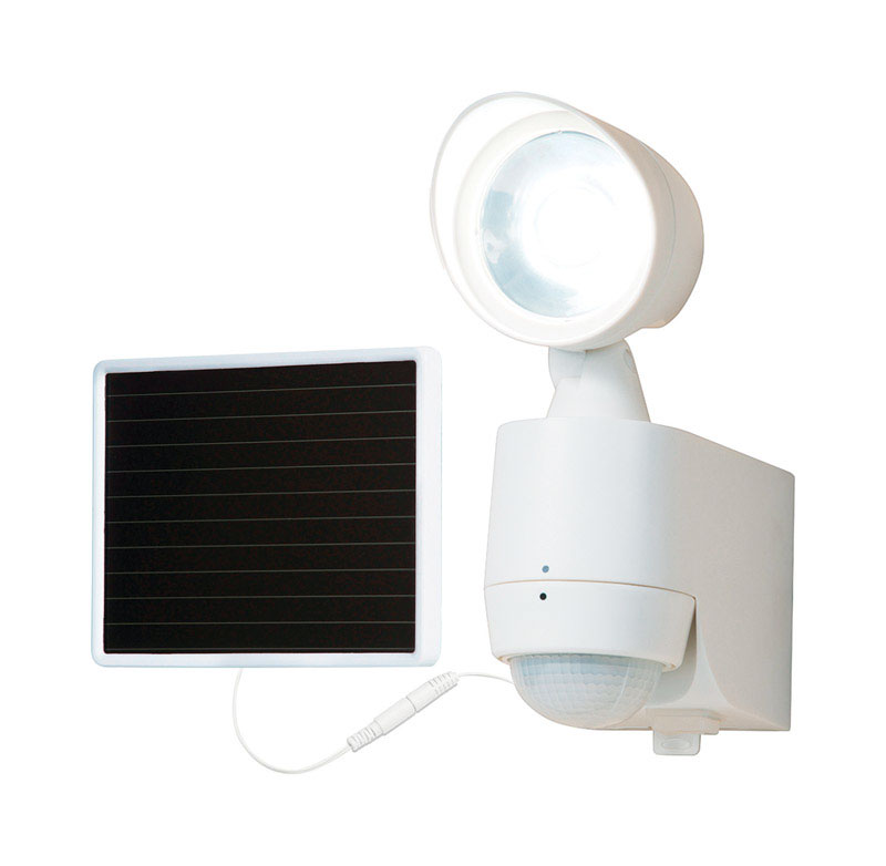 All-Pro  Solar Powered  Entry Light  White  Plastic  Motion-Sensing