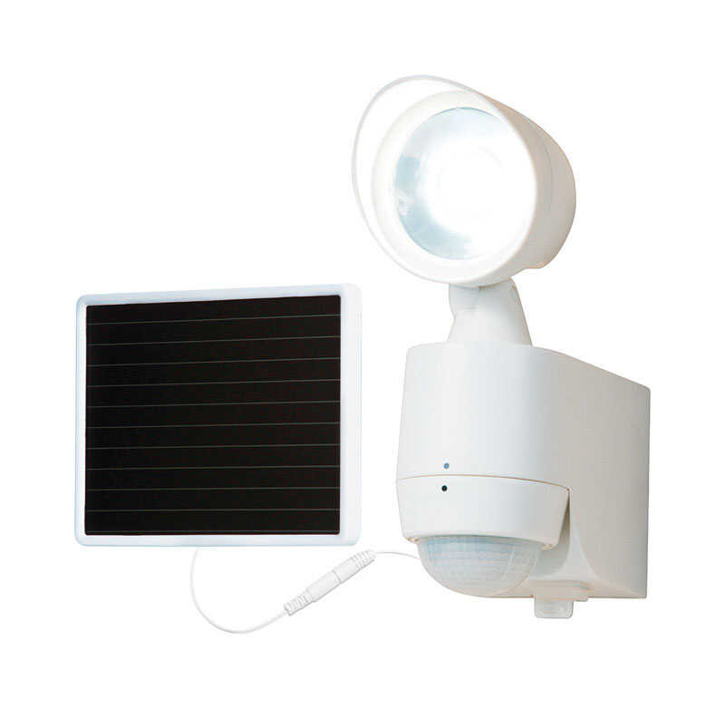All Pro Solar Ed Entry Light White Plastic Motion Sensing