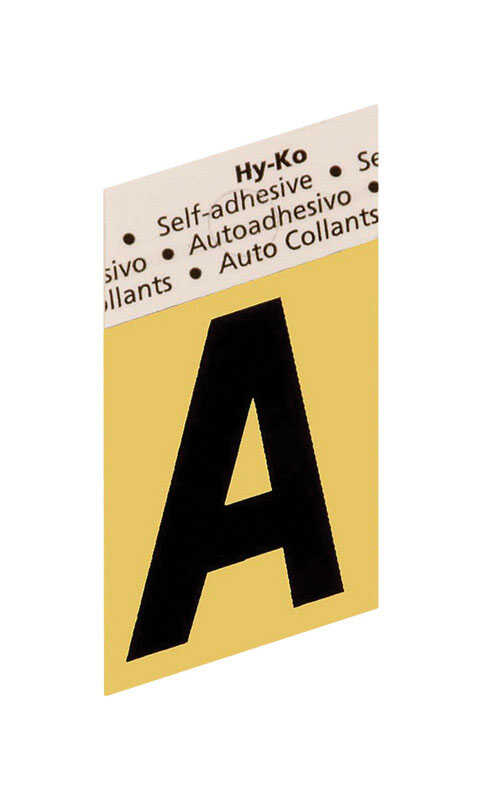 Hy-Ko  1-1/2 in. Aluminum  Black  A  Letter  Self-Adhesive