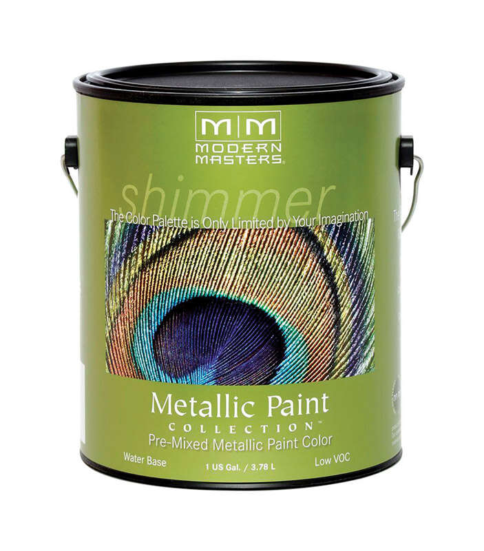 Modern Masters  Shimmer  Satin  Warm Silver  Water-Based  Metallic Paint  1 gal.