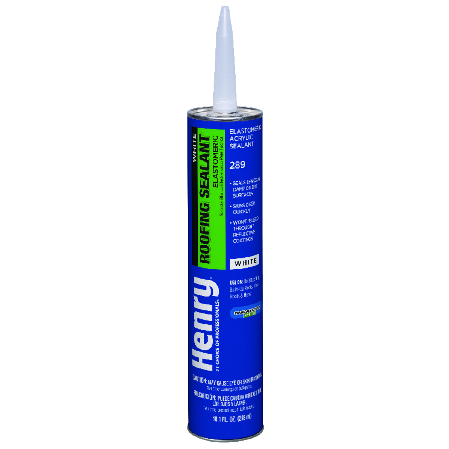Henry  Smooth  White  Water Based  White Roof Sealant  10.1 oz.