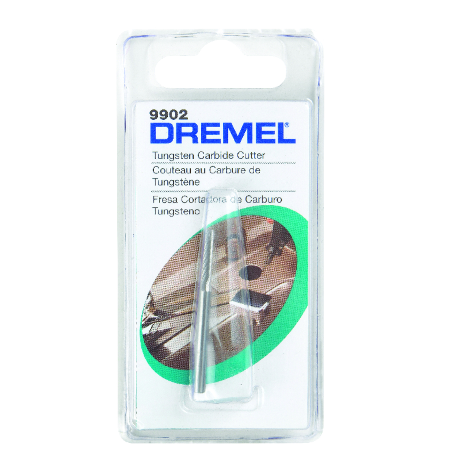 Dremel  3/32 in   x 1.5 in. L x 1/8 in. Dia. Tungsten Carbide  Cutter  1 pk