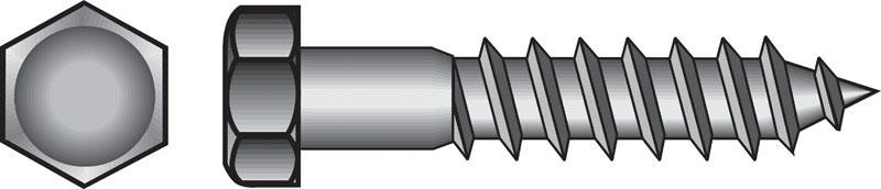 1//2 x 10-Inch 25-Pack Hillman 812116 Hot Dipped Galavanized Hex Lag Screws