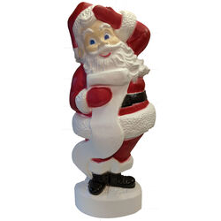 Union Products Red/White Santa Blow Mold Christmas Decoration