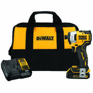DeWalt  20V Max  20 volts 1/4 in. Hex  Cordless  Brushless Impact Driver  Kit 2800 rpm 3200 ipm 1500