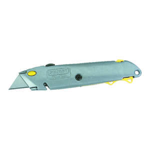 Stanley  6-3/8 in. Gray  1 pc. Retractable  Utility Knife
