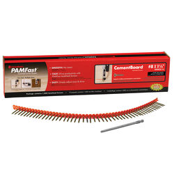 FastenMaster  PamFast  No. 8   x 1 1/4 in. L Star  Flat Head Cement Board Screws  1000 pk