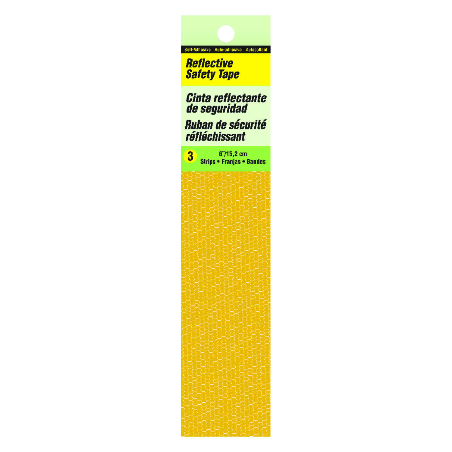 Hy-Ko  6 in. Rectangle  Yellow  Safety Tape
