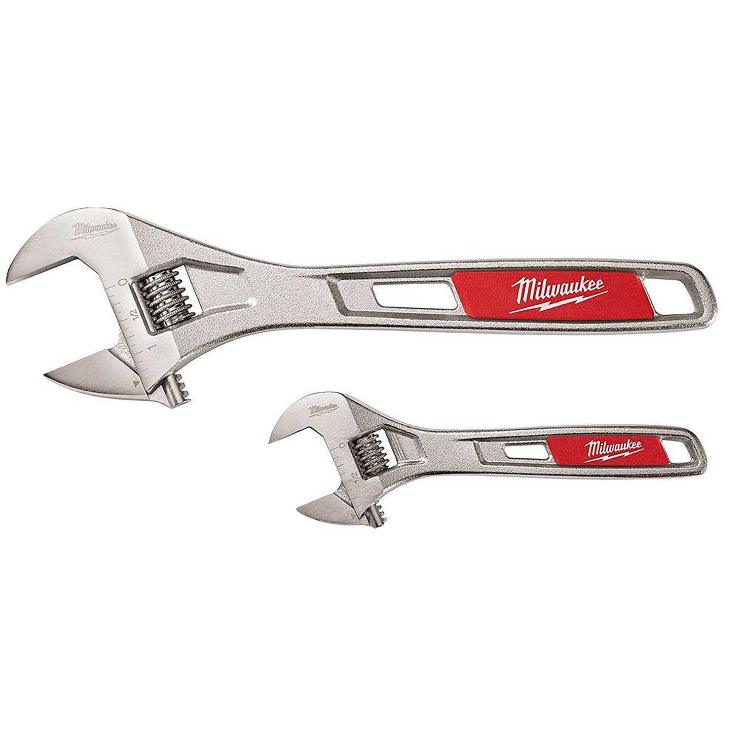 Milwaukee  13.5 in. L SAE  Adjustable Wrench Set  2 pc.