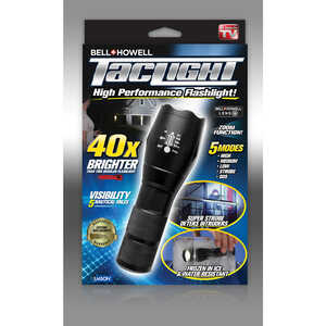 Bell+Howell  As Seen On TV  Black  LED  Tactical Flashlight  AAA