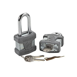 Kwikset  1.7 in. H x 4.5 in. W x 50 mm L Laminated Steel  Dual Ball Bearing Locking  Padlock  1 pk K