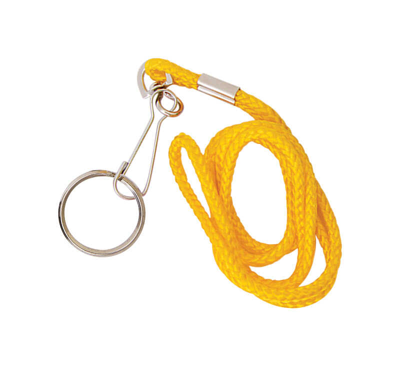Hy-Ko  2GO  Nylon/Steel  Assorted  Clip-On  Lanyard